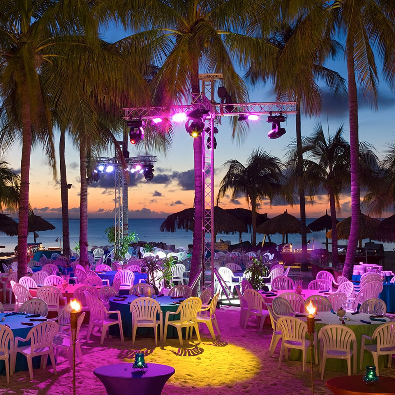 beach event aruba