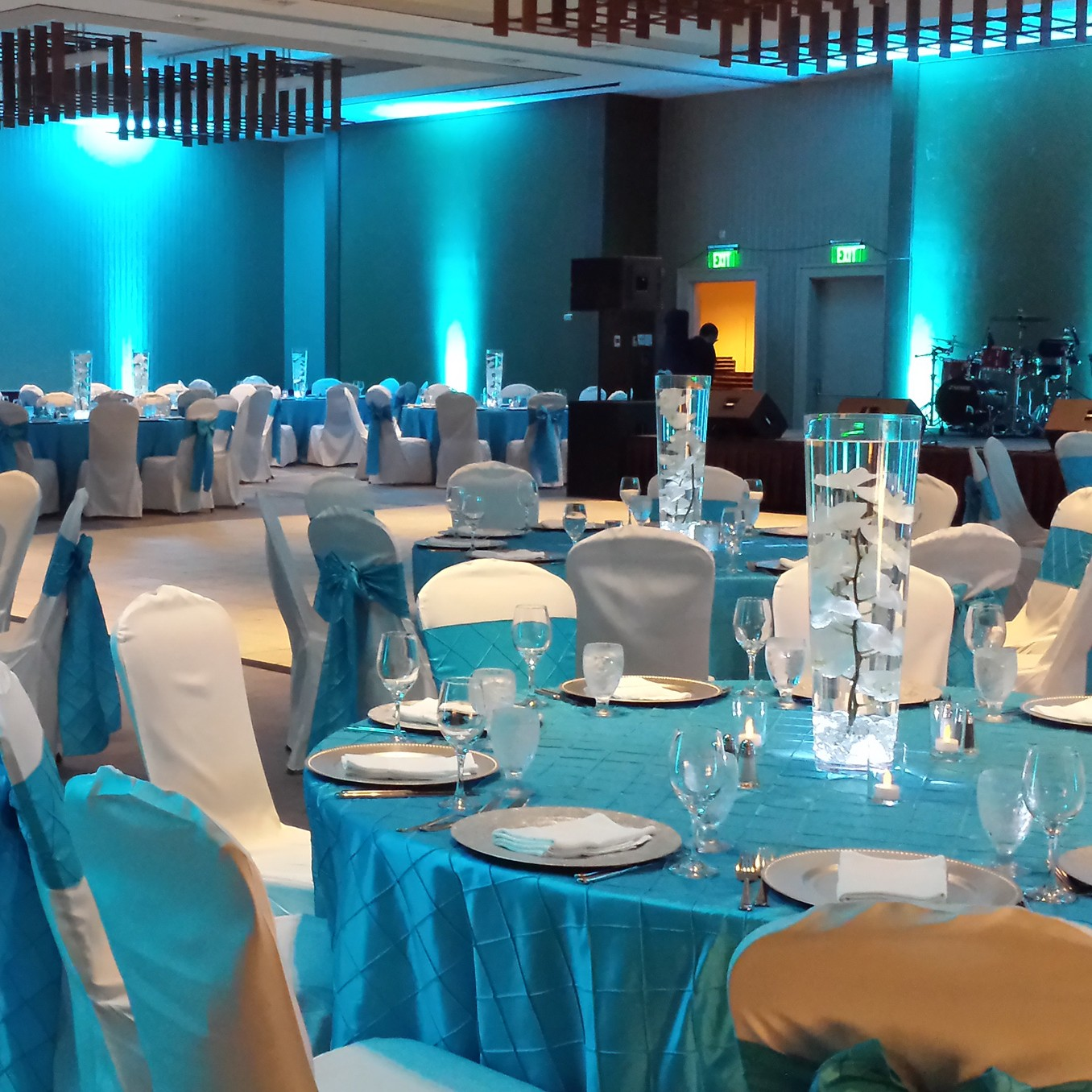 blue hotel ball room event